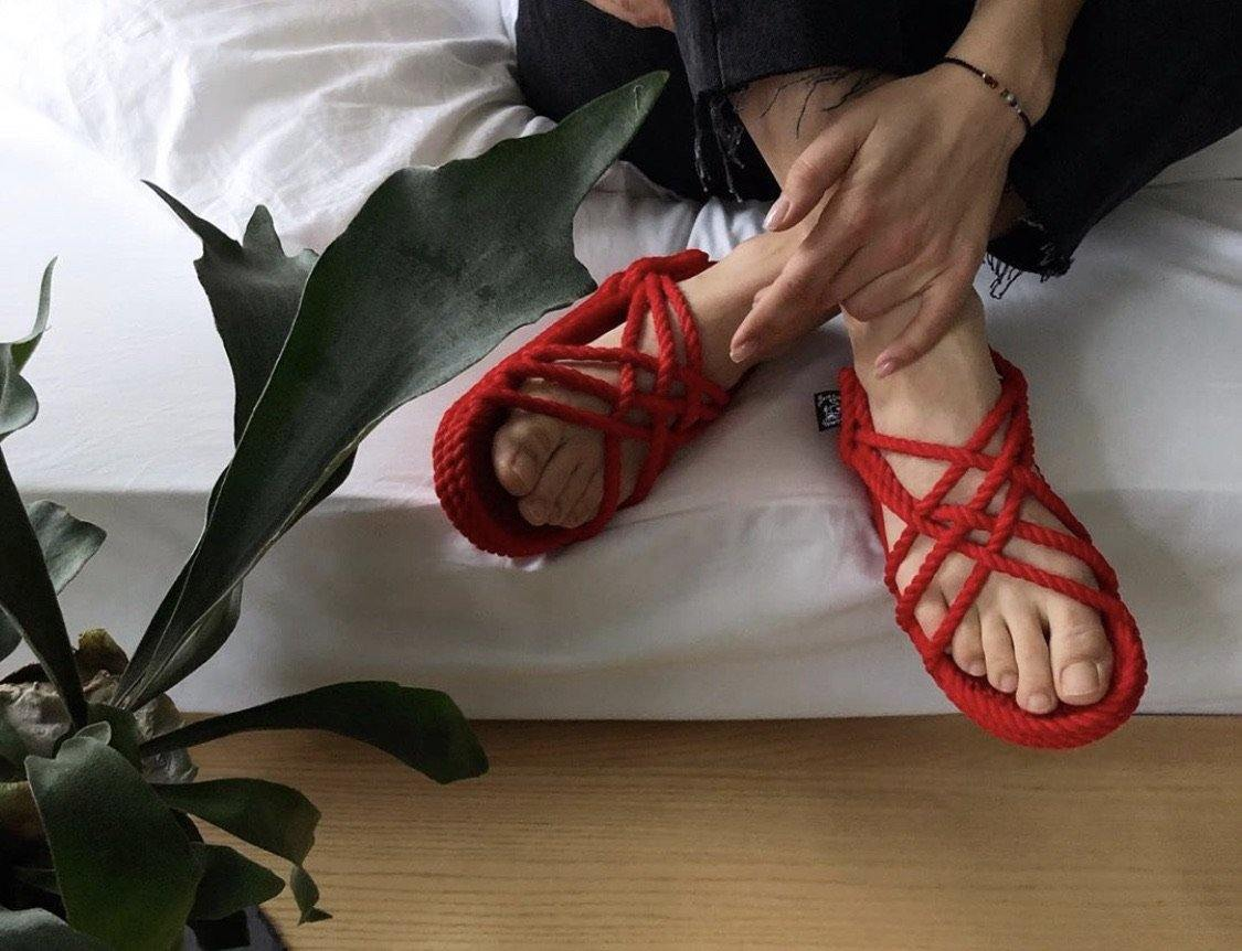 JC Sandal with Vibram sole- Red