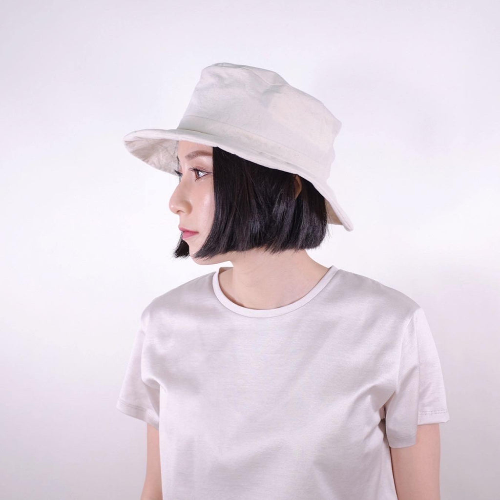 Japanese Handmade Bucket Hat (Ivory)- Made in Japan - MMW Concept