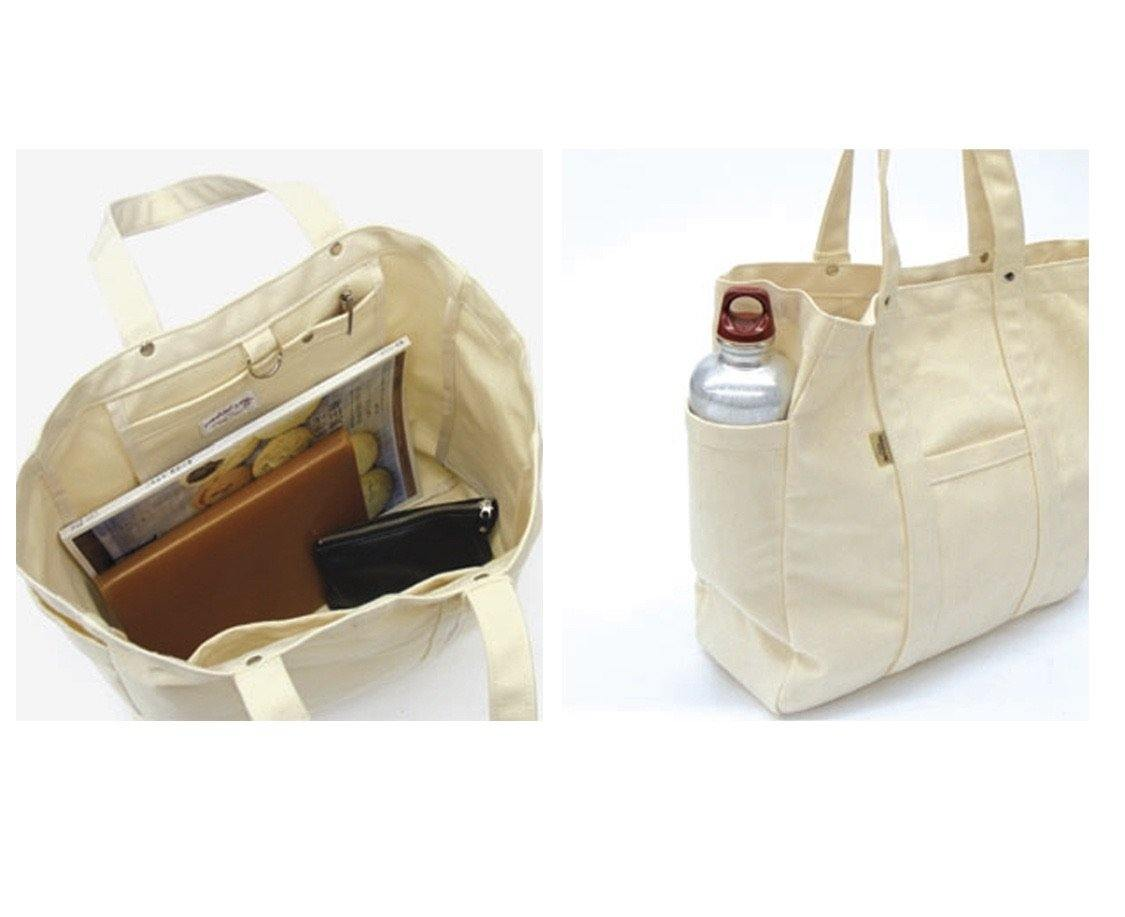 No.8 canvas tote bag - 2 colours