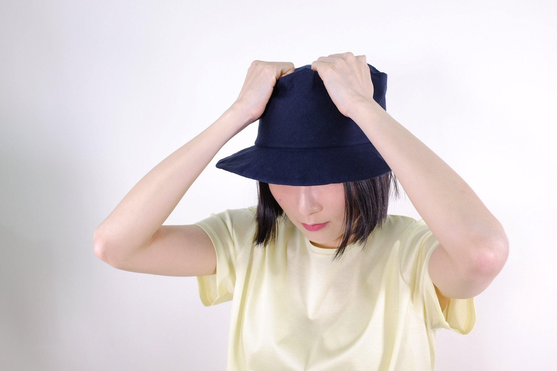 Japanese Handmade Bucket Hat (Navy)- Made in Japan - MMW Concept