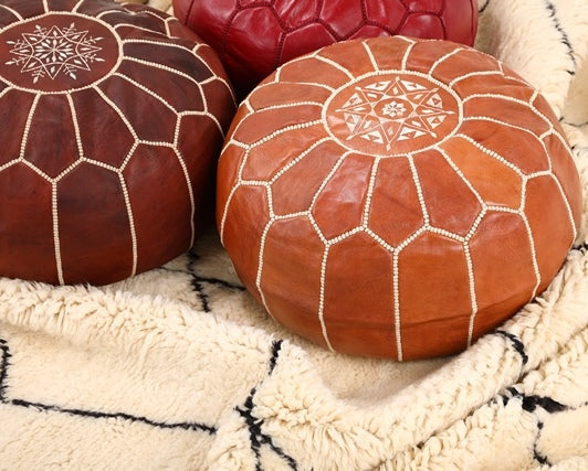 What to use to stuff a Moroccan pouf?