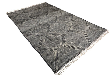 moroccan rug dark grey face