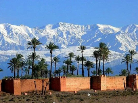 Snow in Morocco - Marrakech