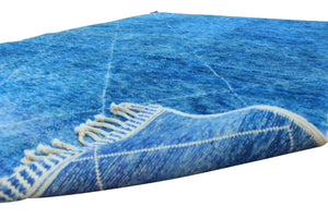 blue moroccan rug luxury 100% wool handmade in morocco, free shipping in canada and worldwide