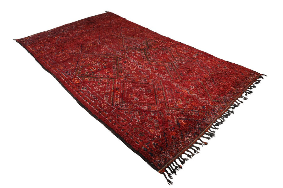 vintage beni guild moroccan rug, burgundy red rug, handmade in Morocco, can be used as living room rug, dining room rug