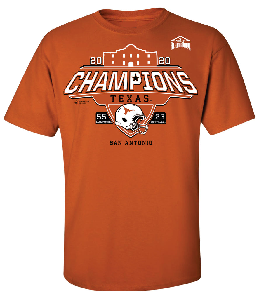 2020 Valero Alamo Bowl Texas Champions Orange Short Sleeve Tee