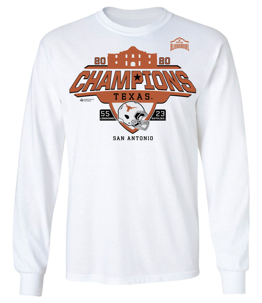 2020 Valero Alamo Bowl Texas Champions White Long Sleeve Tee