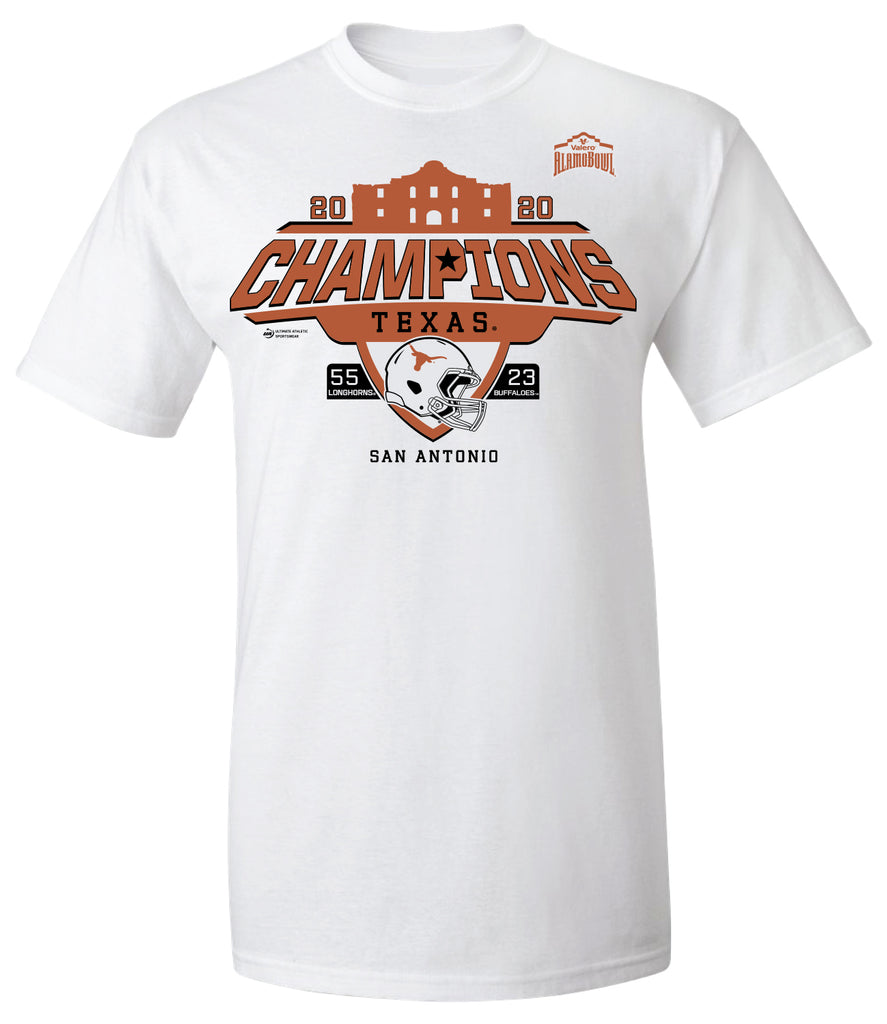 2020 Valero Alamo Bowl Texas Champions White Short Sleeve Tee