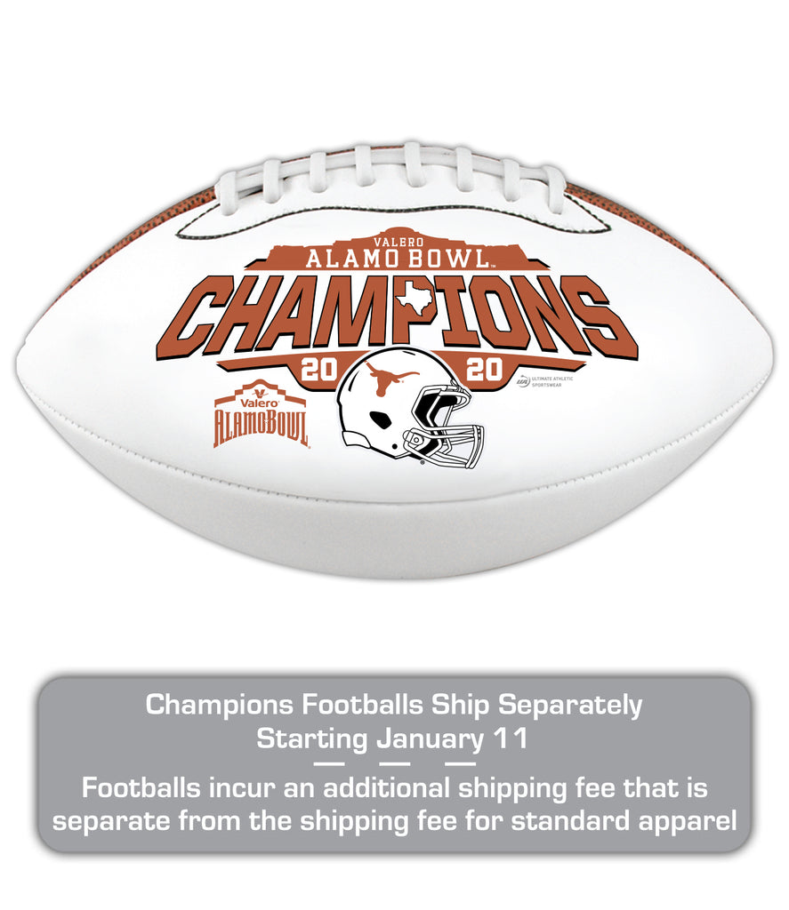 2020 Valero Alamo Bowl Texas Champions Full-Size Football