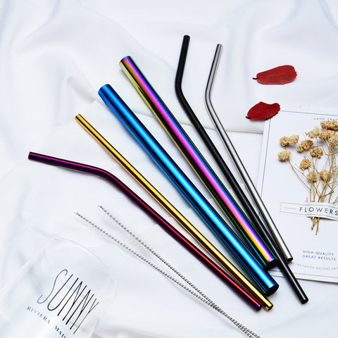 304 Colorful Stainless Steel Straw