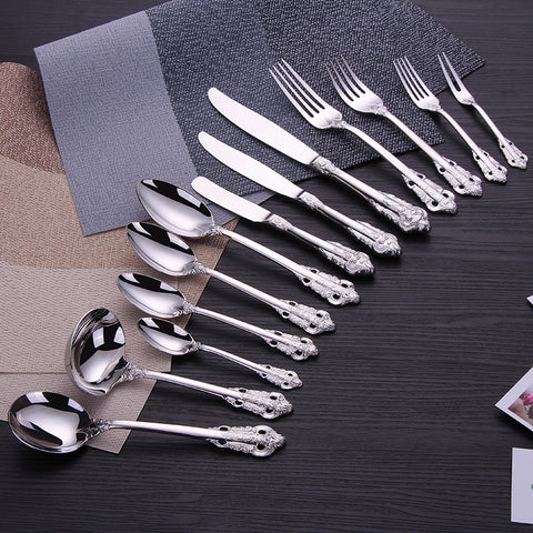 13pcs Royal Style Vintage Carving Flatware Set