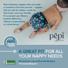 We've teamed up with nappy suppliers to offer Hertfordshire residents an exclusive 15% discount off a range of reusable nappies, accessories and other eco-living products.