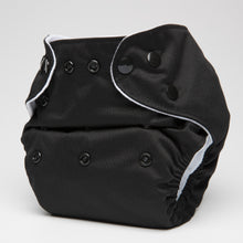 Load image into Gallery viewer, pēpi collection - Jet Black. Reusable nappies