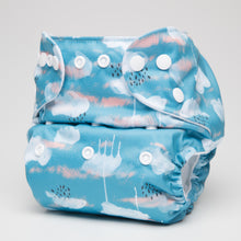 Load image into Gallery viewer, pēpi collection - Fluffy Clouds. Reusable nappies