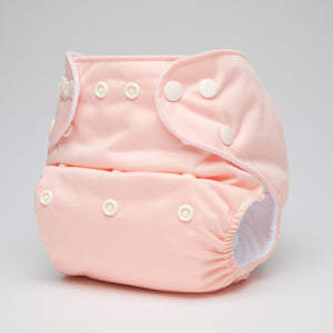 pēpi collection - Peach. Reusable nappies
