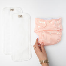Load image into Gallery viewer, pēpi collection - Peach. Reusable nappies