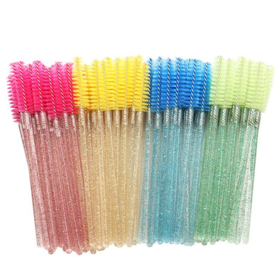 50Pcs/Lot Glitter Makeup Brushes Eyelash brushes Veyelashfactory