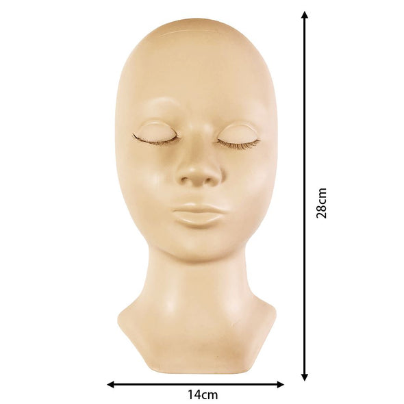 Mannequin With Replacement Eyelids Practice mannequin Veyelashfactory