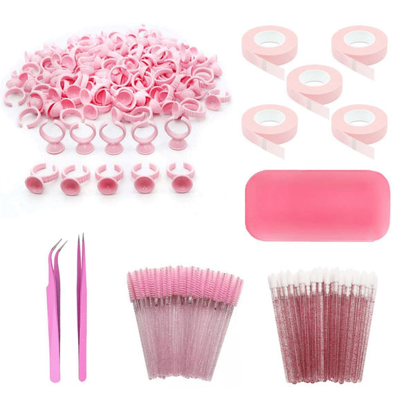 Pink Series Lash Accessory Kit 208PCS Eyelash Kits Veyelashfactory