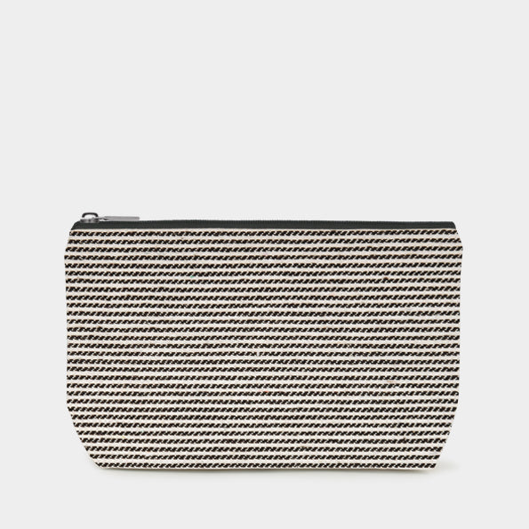 East of India - Cosmetics Bag - Skinny Black Stripe