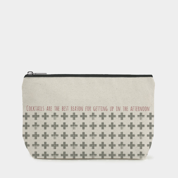 East of India - Cosmetics Bag - 'Cocktails are the best reason...'
