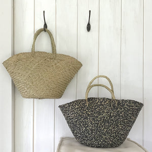 East of India - Straw Shopping Bag - Black