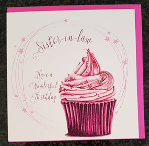 "White Cotton Cards - ""Sister-in-law, Have a Wonderful Birthday"" Birthday Greeting Card"