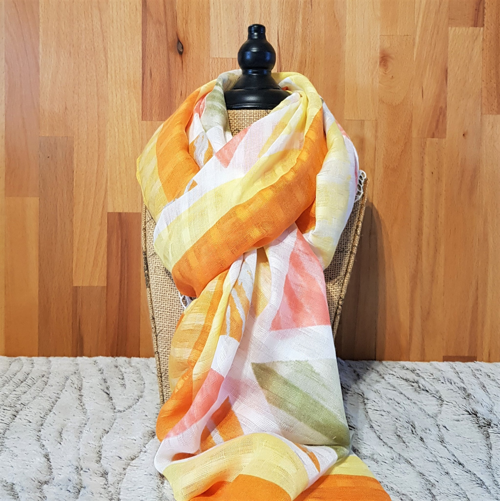 Colours of the Sunset Geometric Print Lightweight Women's Scarf
