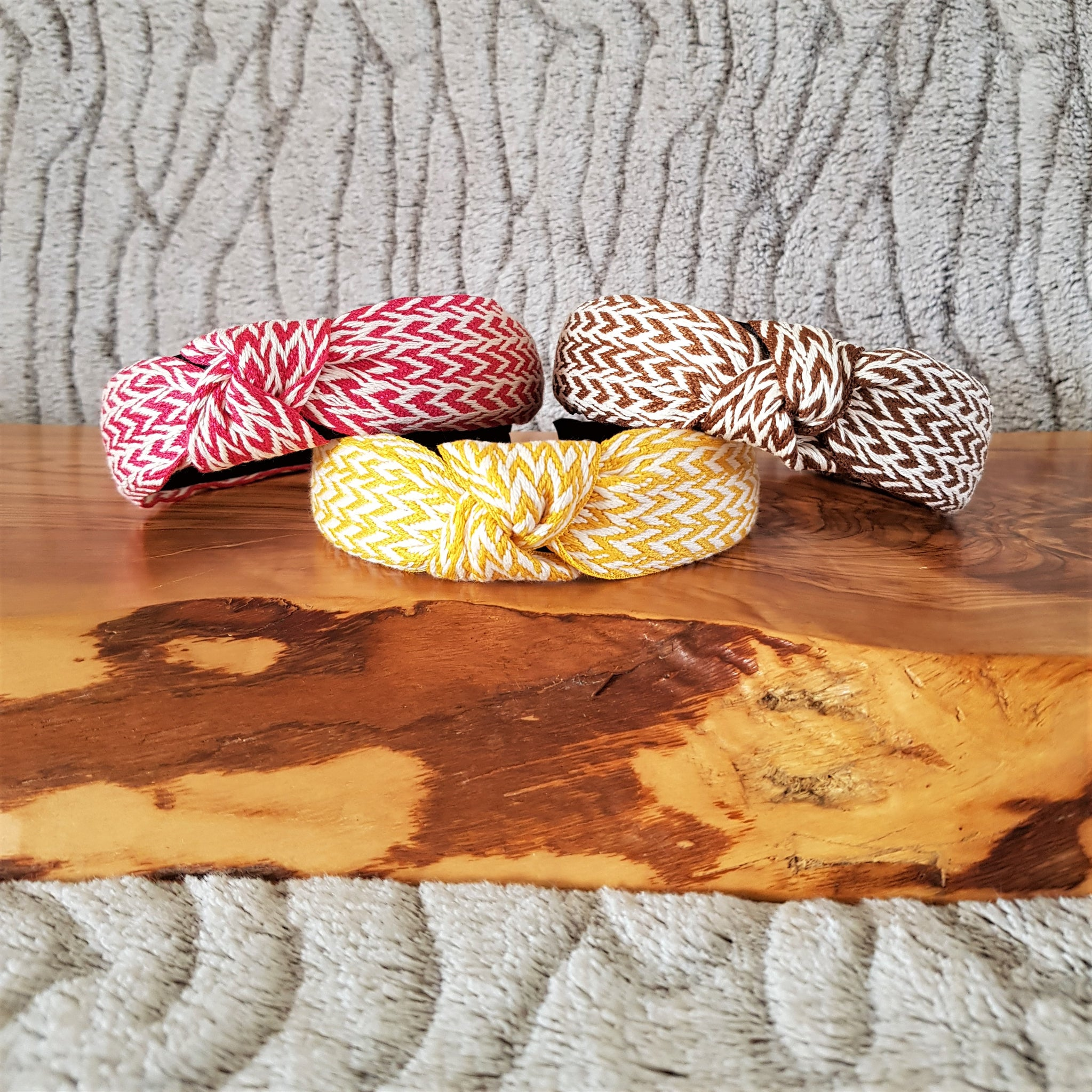 *NEW* Natural Woven Striped Headbands