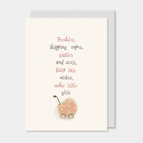 East of India - New Baby Girl Greeting Card