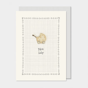 East of India -  New Baby Greeting Card