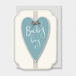 "East of India - ""Baby Boy"" Greeting Card"