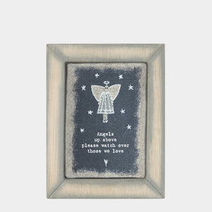 East of India - Wood Plaque - 'Angels Up Above...'