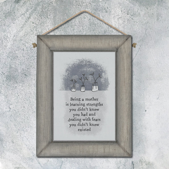 *NEW* from East of India - Wood Plaque - 'Being a Mother...'