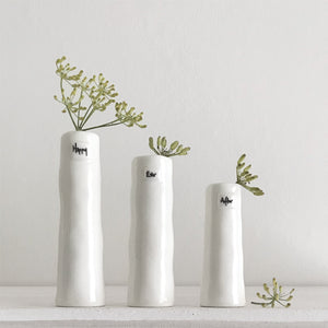 "*NEW* East of India - Trio of Bud Vases - ""Happy Ever After"""