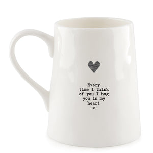 "*NEW* East of India - Porcelain Mug - ""Hug You"""