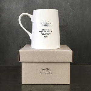 "*NEW* East of India - Porcelain Mug - ""Distance Means So Little..."""