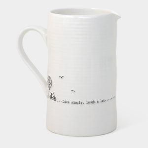 East of India - Large Jug - 'Live simply