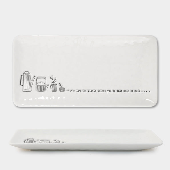 East of India - Rectangular Trinket Dish - 'It's the Little Things You do…'
