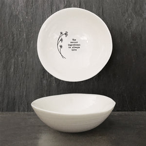 *NEW* East of India - Medium Porcelain Wobbly Bowl - Secret Ingredient'