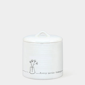 East of India - Small Lidded Pot - 'Pretty little things'