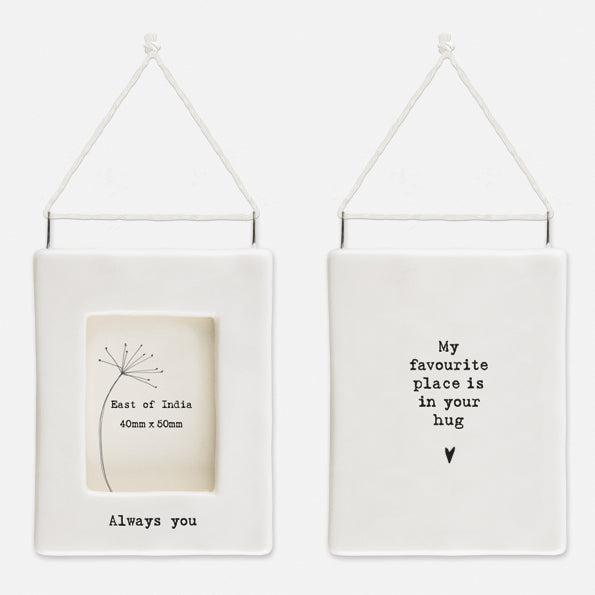 *NEW* East of India - Mini Porcelain Hanging Photo Frame - 'Always You'