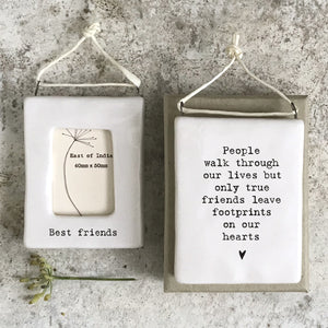 *NEW* East of India - Mini Porcelain Hanging Photo Frame - 'Best Friends'