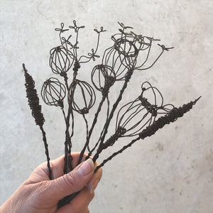 East of India - Wire Flowers - Small Berry Sprig