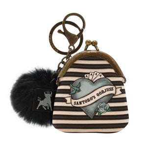 *NEW* from Gorjuss by Santoro London - Black Pearl Mini Keyring Purse