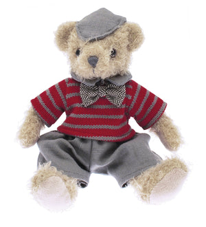Plush Christmas Teddy Bear - 25 cm