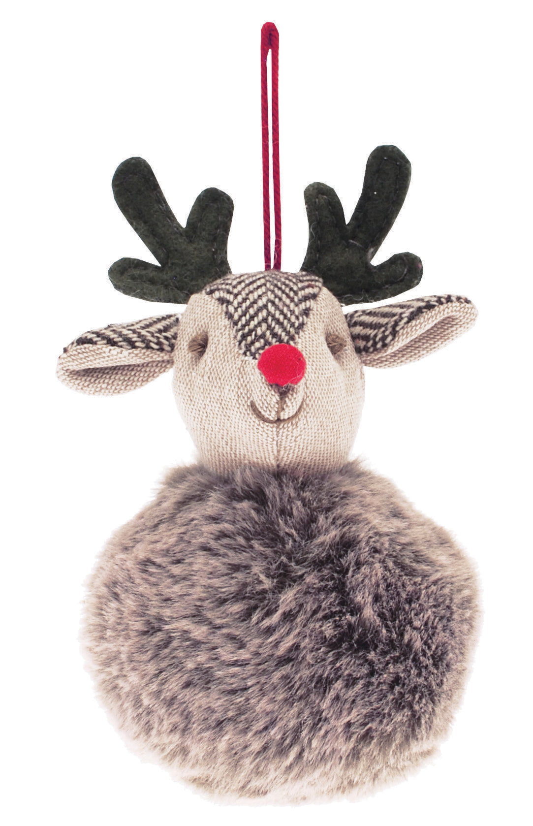 Festive Deer Tree Decoration - 8 cm