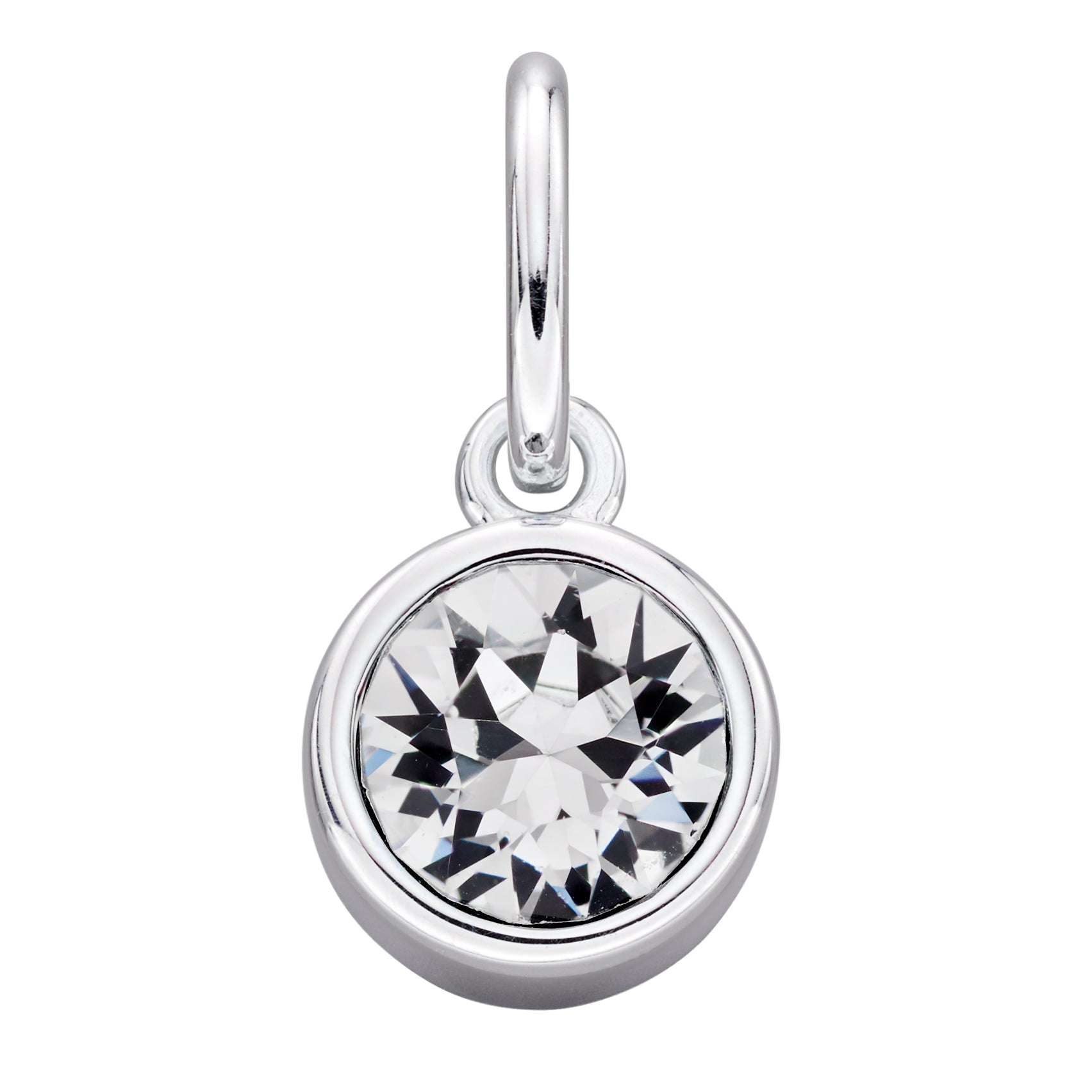 Sterling Silver Swarovski® Crystal April Birthstone Pendant
