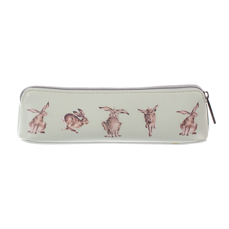 Wrendale Designs - Cosmetics Brush Bag - Hare-Brained