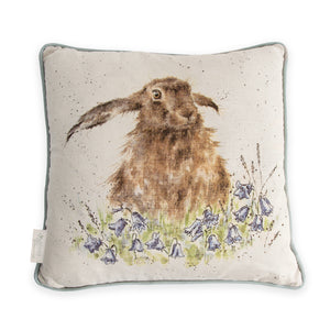 "Wrendale Designs - ""Bright Eyes"" Hare Cushion"